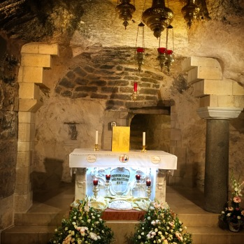 Altar in the very chamber where the Angel Gabriel announced to Mary that she would bear a Son...