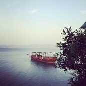 "A ""Jesus Boat"" on the Sea of Galilee"